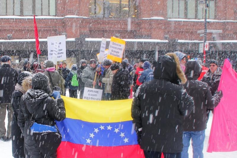 Hands off Venezuela rally in Montreal, Canada